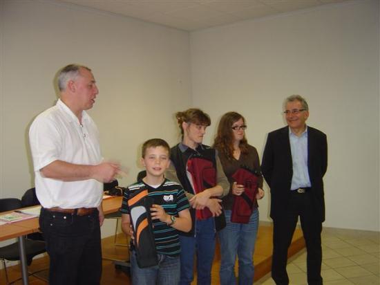 Pierre, Mano et Evelyne récompensés
